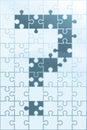 Puzzle pytanie Obraz Royalty Free