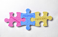 Puzzle representation success in providing solutions to business Royalty Free Stock Photo