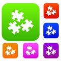Puzzle set color collection Royalty Free Stock Photo