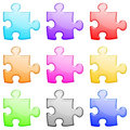 Puzzle shiny set Stock Images
