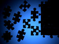 Puzzle silhouette Royalty Free Stock Images