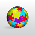Puzzle sphere Royalty Free Stock Image