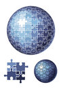 Puzzle sphere / vector illustration Royalty Free Stock Photo