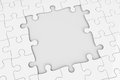 Puzzle square gap grey with three dimensional rendering Stock Photos
