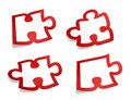 Puzzle sticker Stock Image