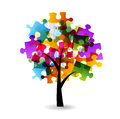 Puzzle  tree Stock Images