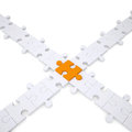 Puzzle white and orange Royalty Free Stock Photo