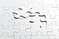 Puzzle white pieces Royalty Free Stock Photo
