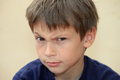 Puzzled boy Royalty Free Stock Photo