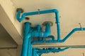 PVC pipeline suspension. Royalty Free Stock Photo