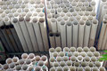 PVC pipes Stock Images