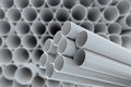Pvc pipes for drinking water in warehouse Stock Photos