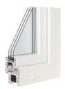 Pvc profile windows with triple glazing isolated image Stock Photos