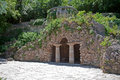 Pyatigorsk flower park grotto of diana the ancient building the in city Stock Photography
