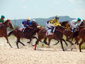 Pyatigorsk russia july race for the big prize oaks on july in caucasus Royalty Free Stock Images