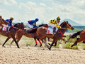 Pyatigorsk russia july race for the big prize oaks on july in caucasus Stock Photography