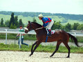 Pyatigorsk russia july race for the big prize oaks mare sa salomeya on in caucasus Stock Photo