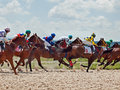 Pyatigorsk russia july race for the mares big prize oaks on in caucasus Stock Photography