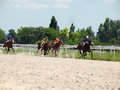 Pyatigorsk russia july race for the mares big prize oaks o on in caucasus Royalty Free Stock Photography