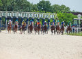 Pyatigorsk russia july start of race for the big prize oaks on in caucasus Stock Images