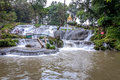 Pyin Oo Lwin ,Pagoda over waterfall ,Myanmar Royalty Free Stock Photo