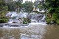 Pyin Oo Lwin ,Pagoda over waterfall ,Myanmar Royalty Free Stock Photo