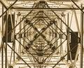 Pylon from below Royalty Free Stock Photo