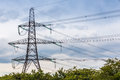 Pylon a in england on a cloudy day Stock Image