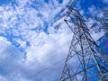 Pylon a huge towering electric power Royalty Free Stock Photo