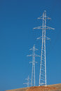 Pylon and transmission power line Royalty Free Stock Photo