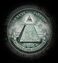 Pyramid with all-seeing eye Royalty Free Stock Photo