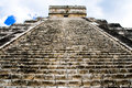 Pyramid of Chichen Itza, Mexico Stock Images