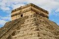 Pyramid in Chichen Itza, Temple of Kukulkan. Yucatan. Mexico Royalty Free Stock Photo