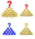 The pyramid of cubes with a question mark Royalty Free Stock Photography