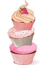 Pyramid of cupcakes elegance design Stock Photo