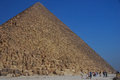 Pyramid in egypt with sky high blue holiday Stock Image