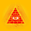 Pyramid and eye Royalty Free Stock Photo