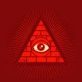 Pyramid and eye Royalty Free Stock Photo
