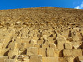 Pyramid of giza closeup Royalty Free Stock Image