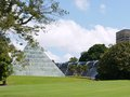 A pyramid glass house the glasshouse in the royal botanic gardens in sydney in new south wales in australia Stock Images