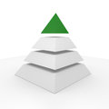 Pyramid with a green top Stock Photos