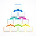 Pyramid hierarchy template Royalty Free Stock Photo