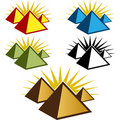 Pyramid Icon Set Royalty Free Stock Photography