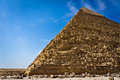 Pyramid of khafre in giza egypt Royalty Free Stock Images