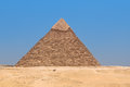 Pyramid of khafre in giza egypt with blue sky the background Stock Images
