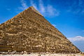 Pyramid of khafre in giza egypt view Stock Photos