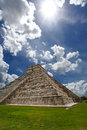 Pyramid kukulkan chichen itza the castillo mexico Royalty Free Stock Images