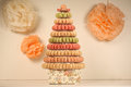 Pyramid of macaroons Royalty Free Stock Photo