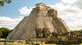 Pyramid of Magician, Uxmal Royalty Free Stock Photo
