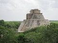 The Pyramid of the Magician Uxmal Yucatan Mexico Royalty Free Stock Photos